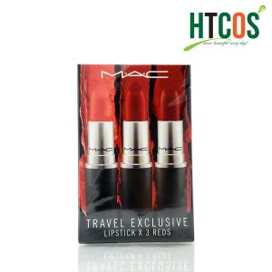 Set 3 Cây Son Mac Travel Exclusive lipstick x 3 Reds 607, 707, 602 Mỹ