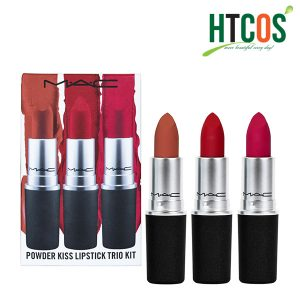 Set Son Mac Powder Kiss Lipstick Trio Kit
