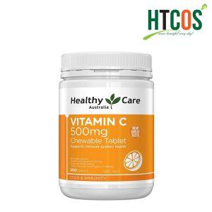 Viên nhai mềm Bổ Sung Vitamin C Healthy Care Vitamin C 500mg
